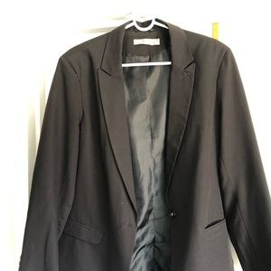 Over-sized black blazer